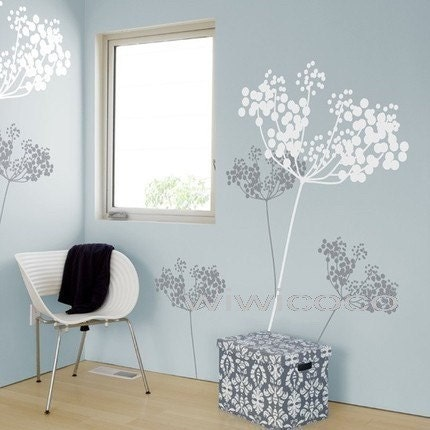 2pcs flower- 70inch tall--Removable Wall Art Home Decors Murals Vinyl Decals Sticker