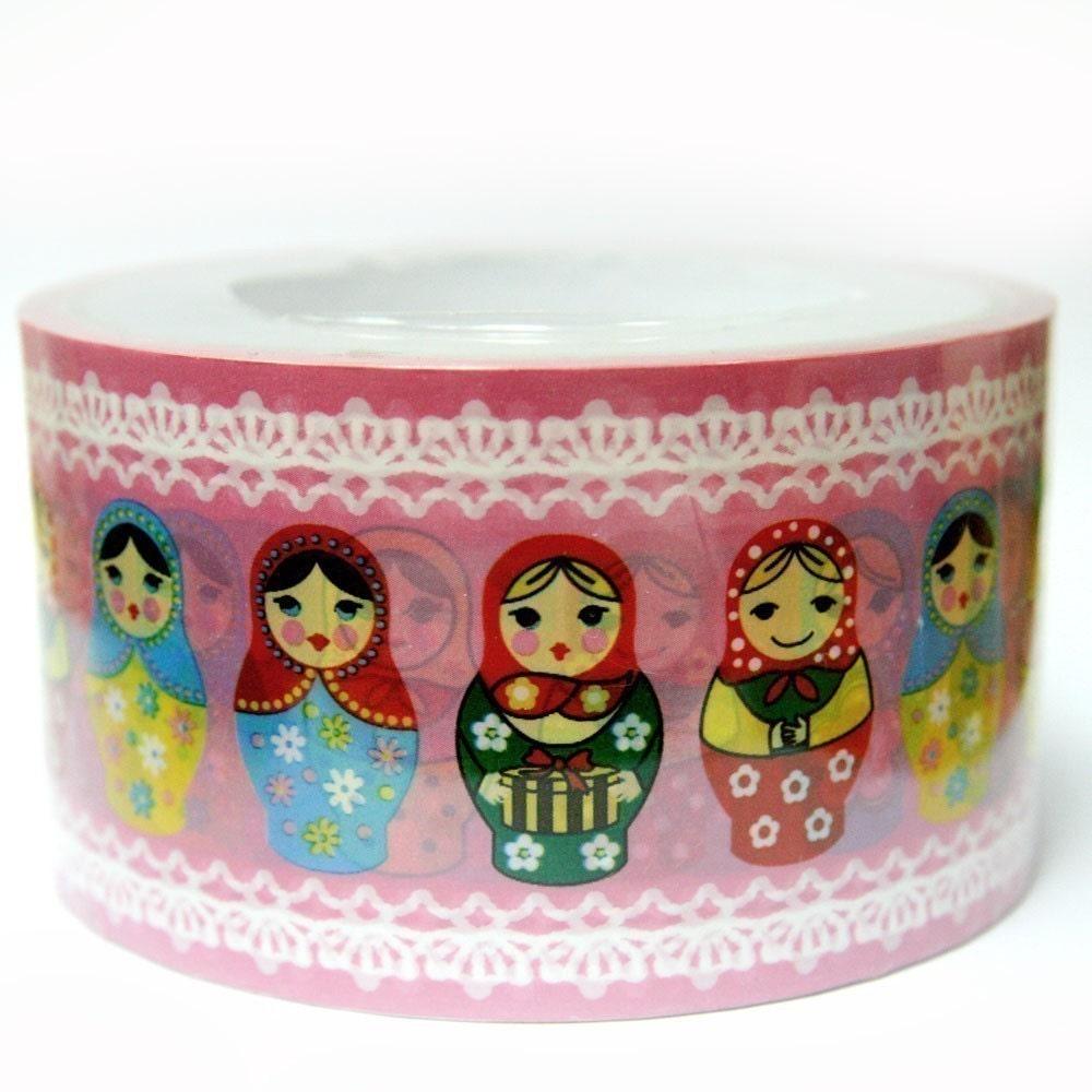 DT-MA-01001 - Masking Deco Tape - Colorful Matryoshka Dolls