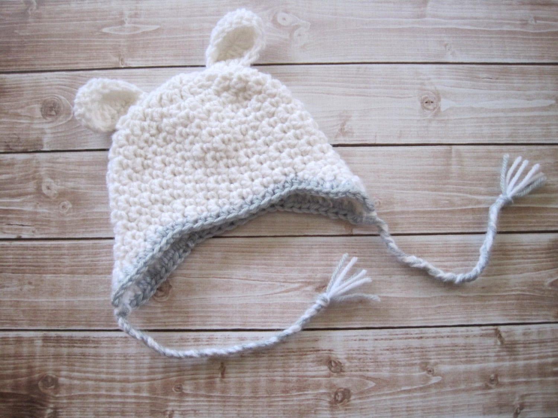 Baby Boy Hat, Baby Lamb Hat, Crochet Baby Hat, Crochet Baby Animal Hat, Infant Hat, Baby Beanie, Newborn Boy Hat, White - Monarchdancer