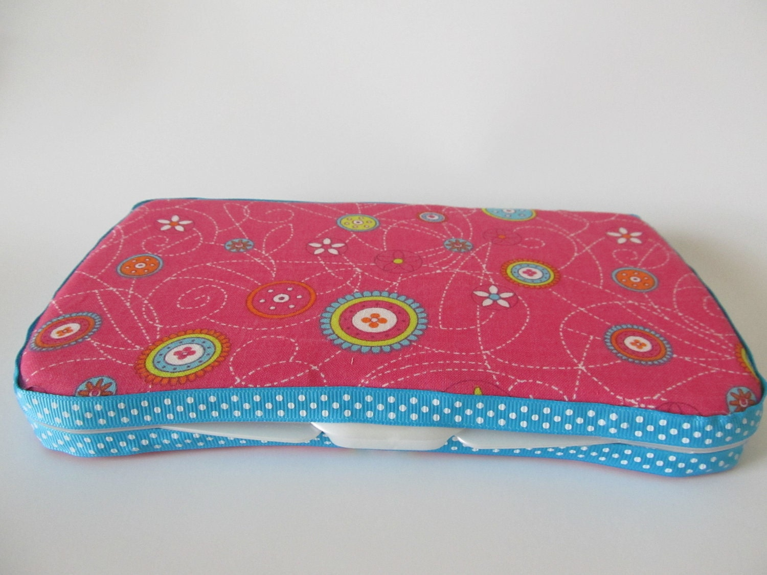 Pink and Blue Custom Baby Wipes Case
