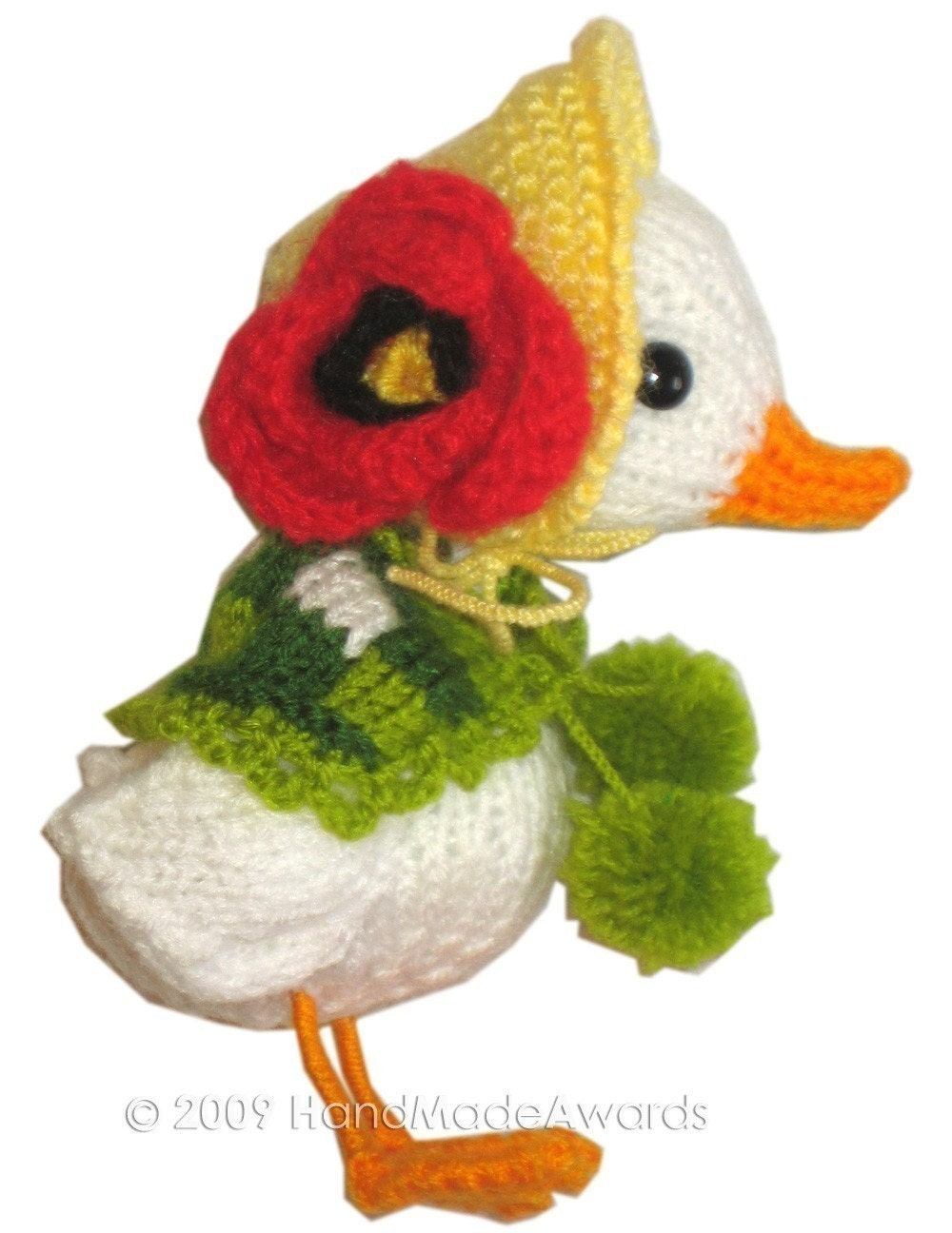 ADORABLE MUMMY GOOSE with EASTER EGGS PDF EMAIL KNIT PATTERN