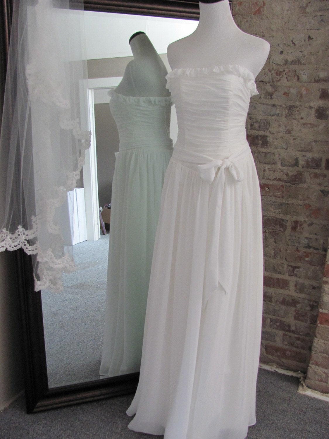 Short and Sweet Chiffon Bridal Gown (Full Length Variation)