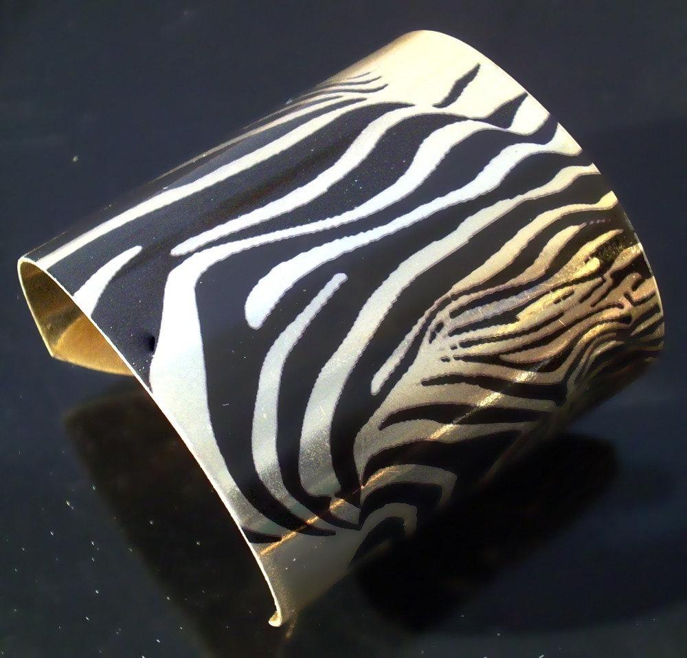 Golden Zebra Cuff