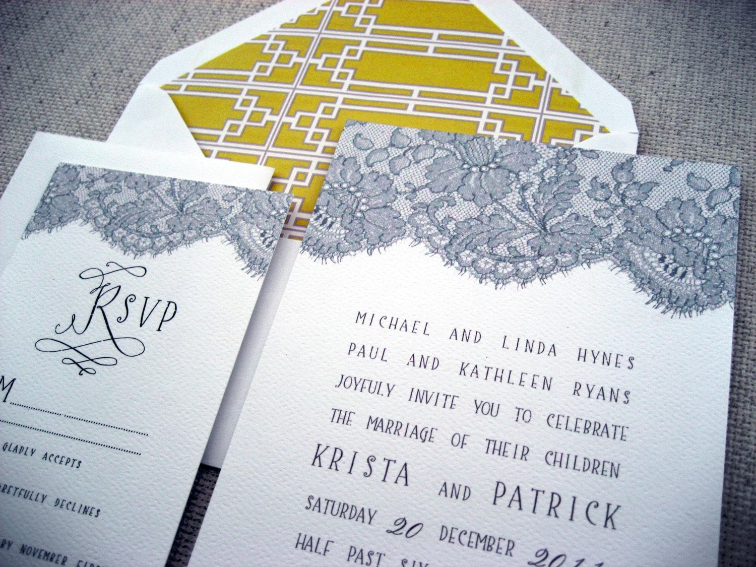 Summer Lace Invitation Suite