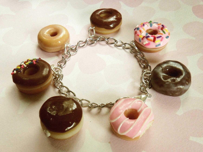 Výsledek obrázku pro polymer clay bracelet with donuts