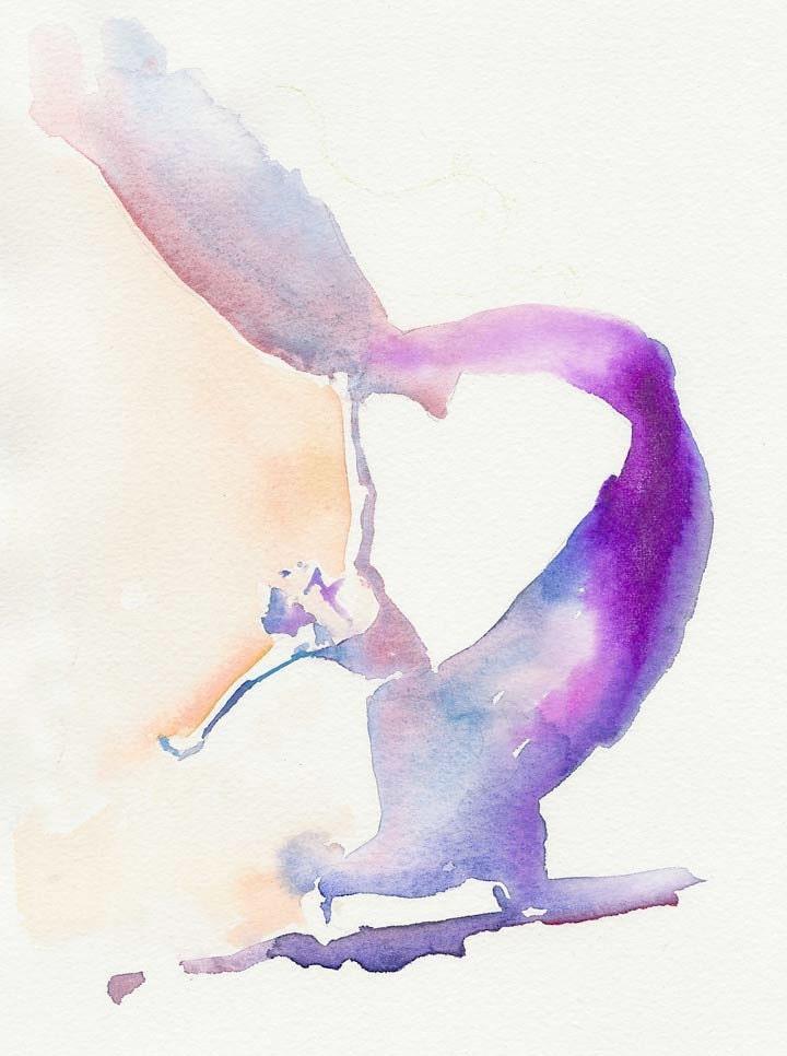 Watercolor Fashion Illustration mini - Dance Series