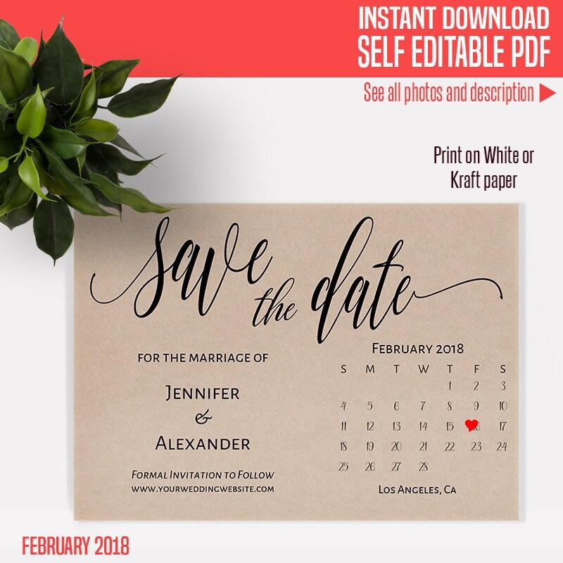 2018 calendar printable | Etsy