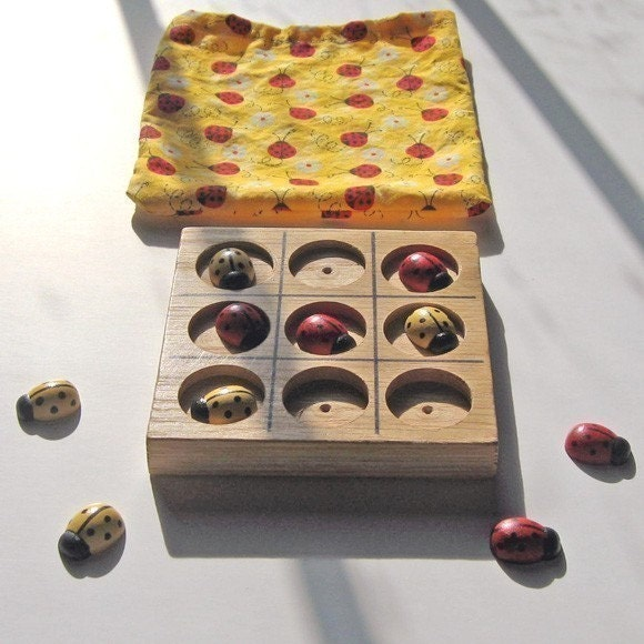 Ladybug Tic Tac Toe by happysquashtoys on Etsy from etsy.com
