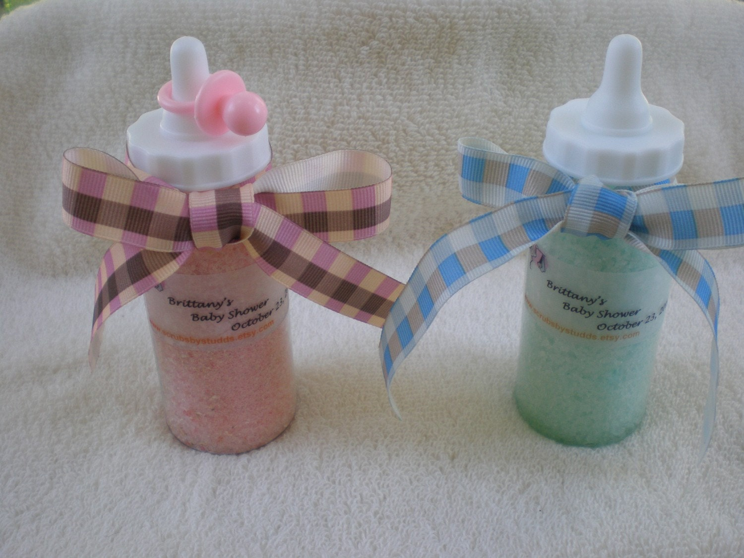 baby shower baby bottle bath salt favors 12 per by bath salt baby shower favors in sweet little jars