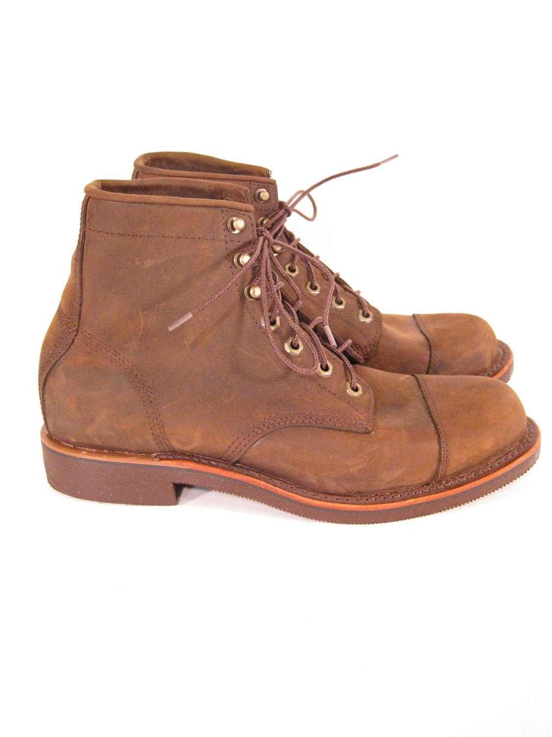 brown leather ankle boots size 9 5 katahdin by