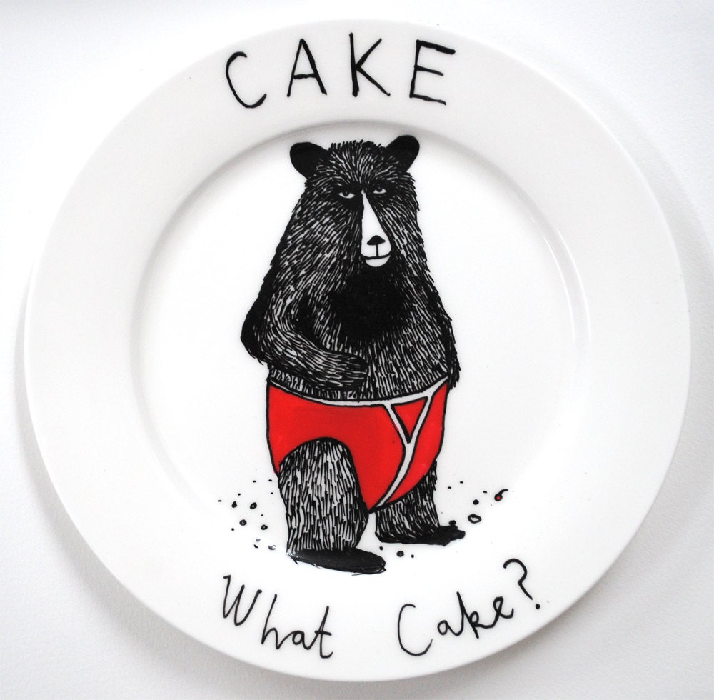 What Cake side plate - jimbobart