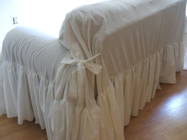 Shabby Chic Sofa : shabby chic sofa slipcoverthrow by MyThymeCreations on Etsy