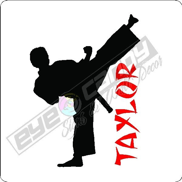 personalized karate boy wall decal removable by eyecandysigns