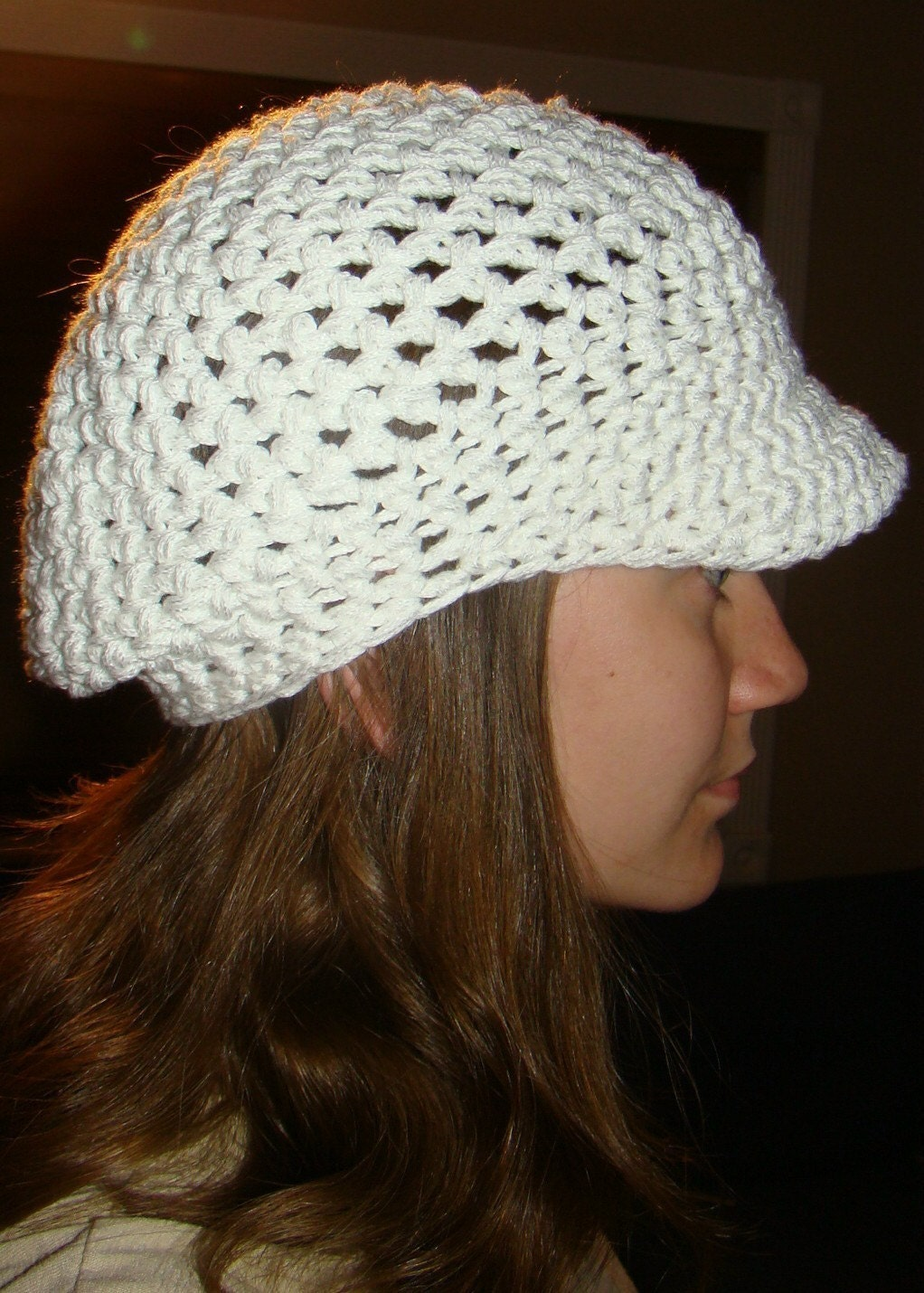 Crocheted Urban Visor Beanie
