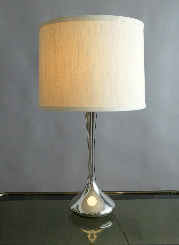 Vintage Chrome Laurel Lamp Tulip Base Table Top By
