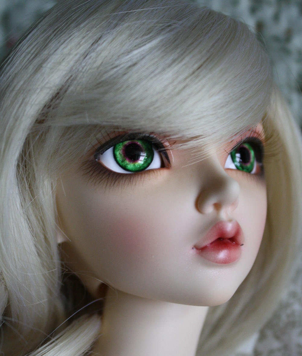 BJD eyes Doll eyes Hand made available in 12141618202224mm Watermelon Sparkle made to order