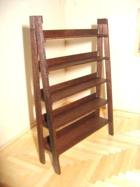 Miniature Ladder Style Bookcase by minibuilder on Etsy