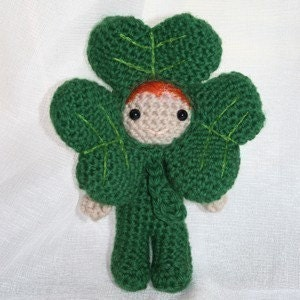 Crochet Pattern- Dave the shamrock amigurumi doll