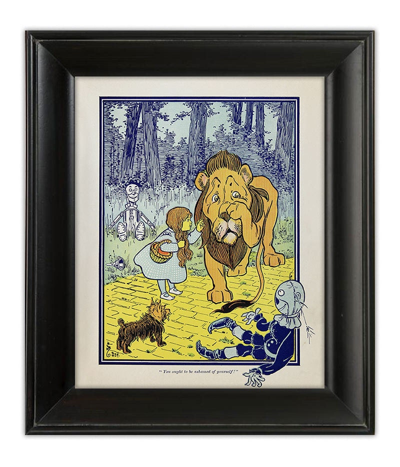 items similar to wizard of oz 1900 art print poster. Black Bedroom Furniture Sets. Home Design Ideas