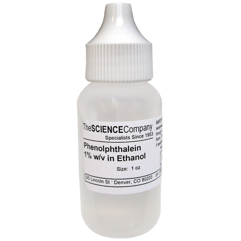Phenolphthalein Indicator Solution  Fluid Ounce By