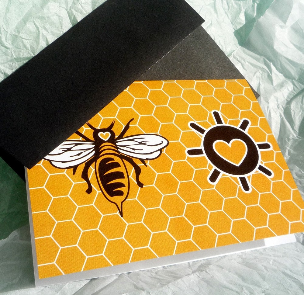 Bee Mine Valentine Card by theRasilisk on Etsy from etsy.com