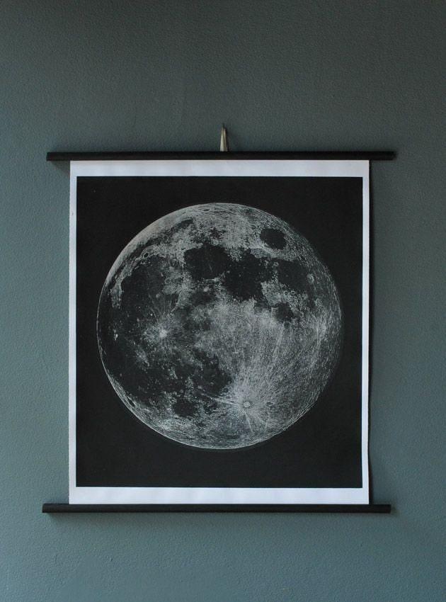Moon Chart Print (Signed)