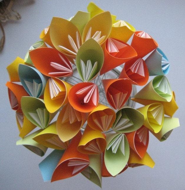 Летний букет цветов оригами