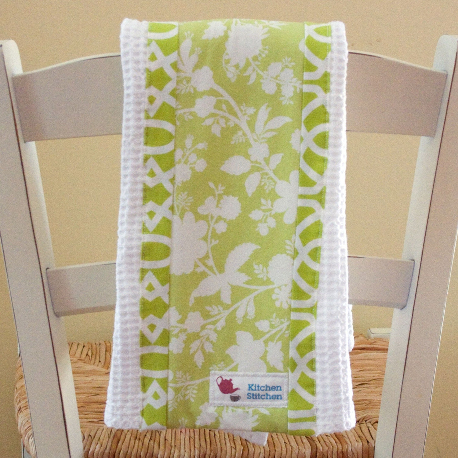 Lime Garden Tea Towel