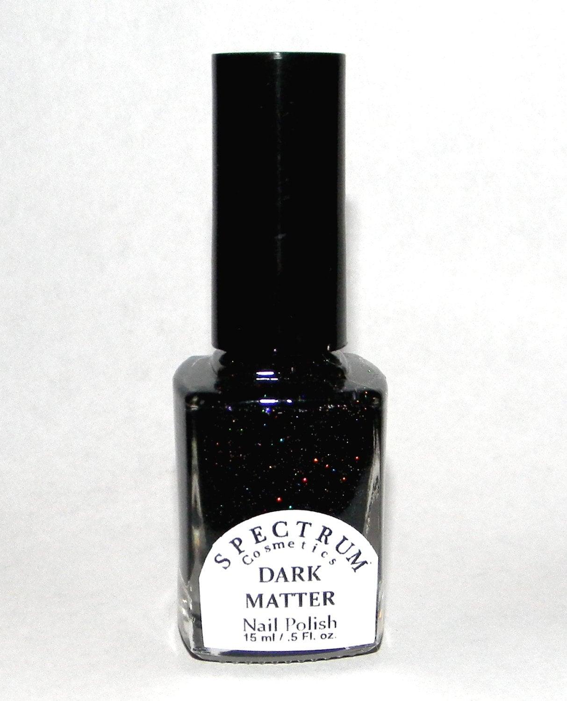 Black Holographic Glitter nail Polish DARK MATTER