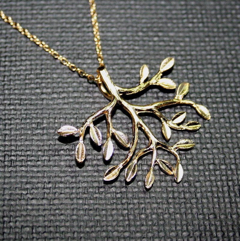 Golden Tree Necklace by smilesophie on Etsy from etsy.com