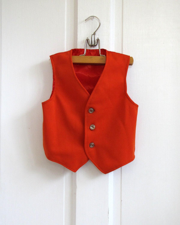 70s Retro Red  Vest (4t -5t)