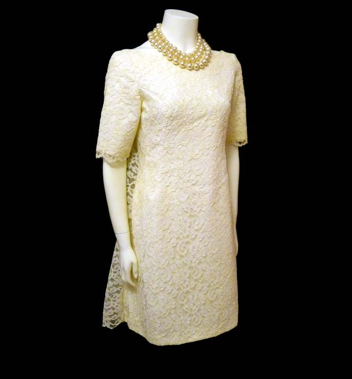 Vintage 60's Mod Lace Tiered Back Emma Domb Dress