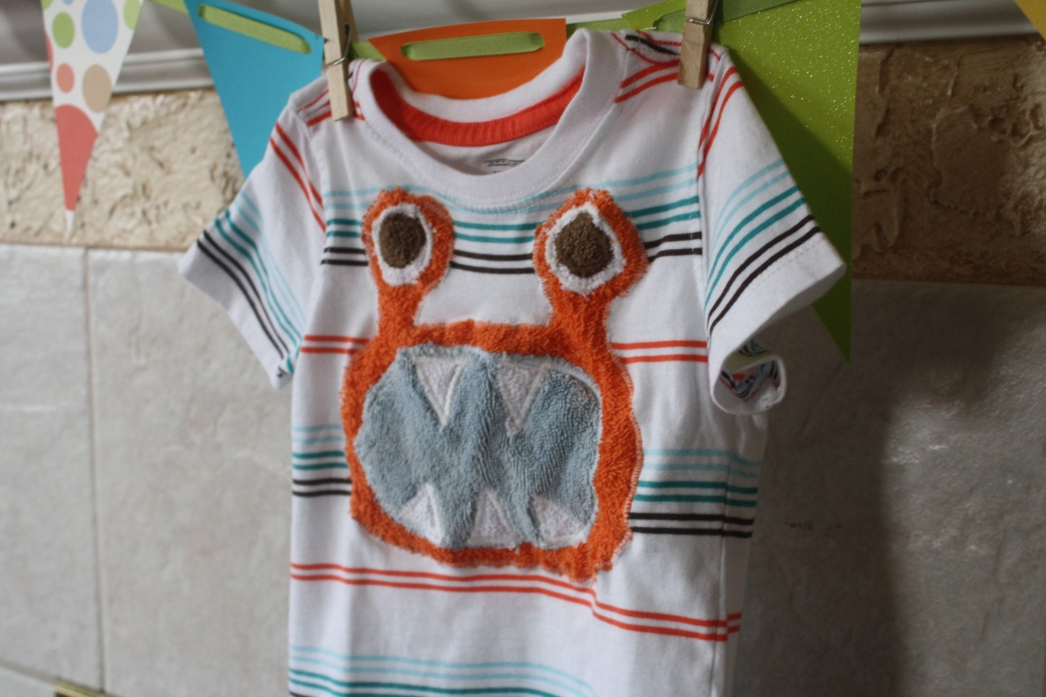 Custom Kids Monster Tee or Onsie