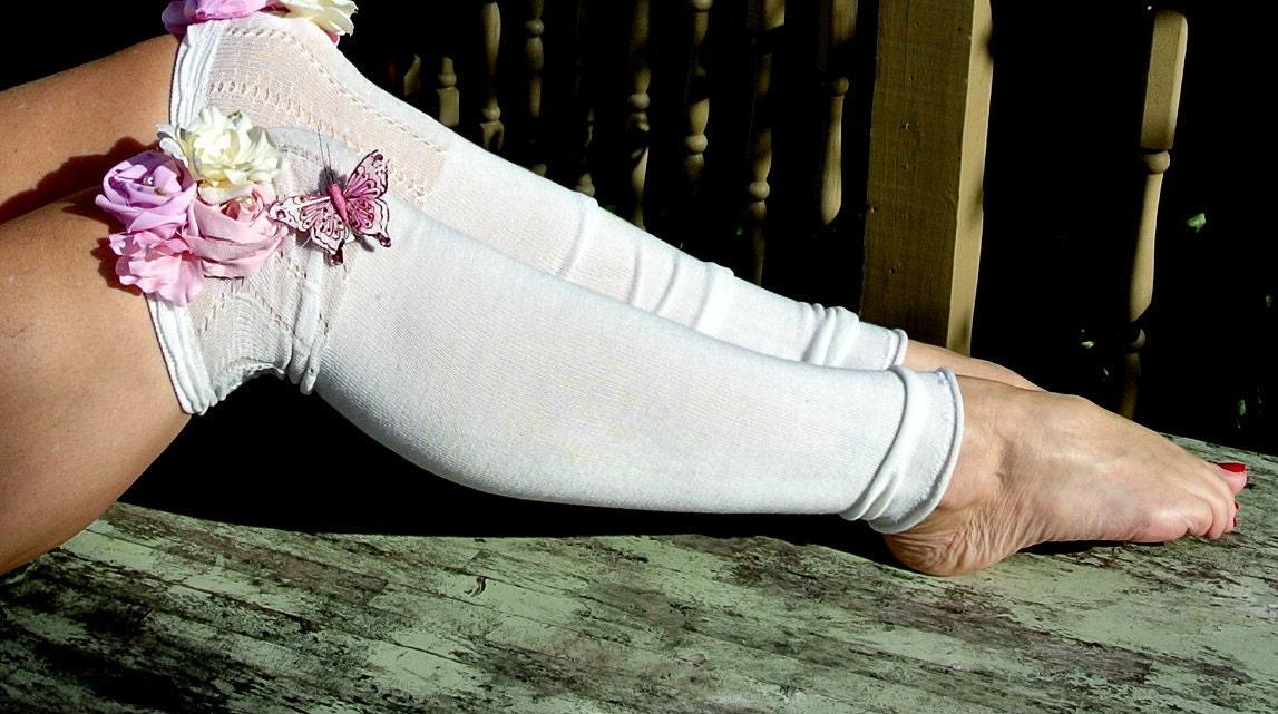 За колена Anthropologie стиля гетры Серый Страна Дом шикарный французский лук женские ноги девушки Мори обогреватели