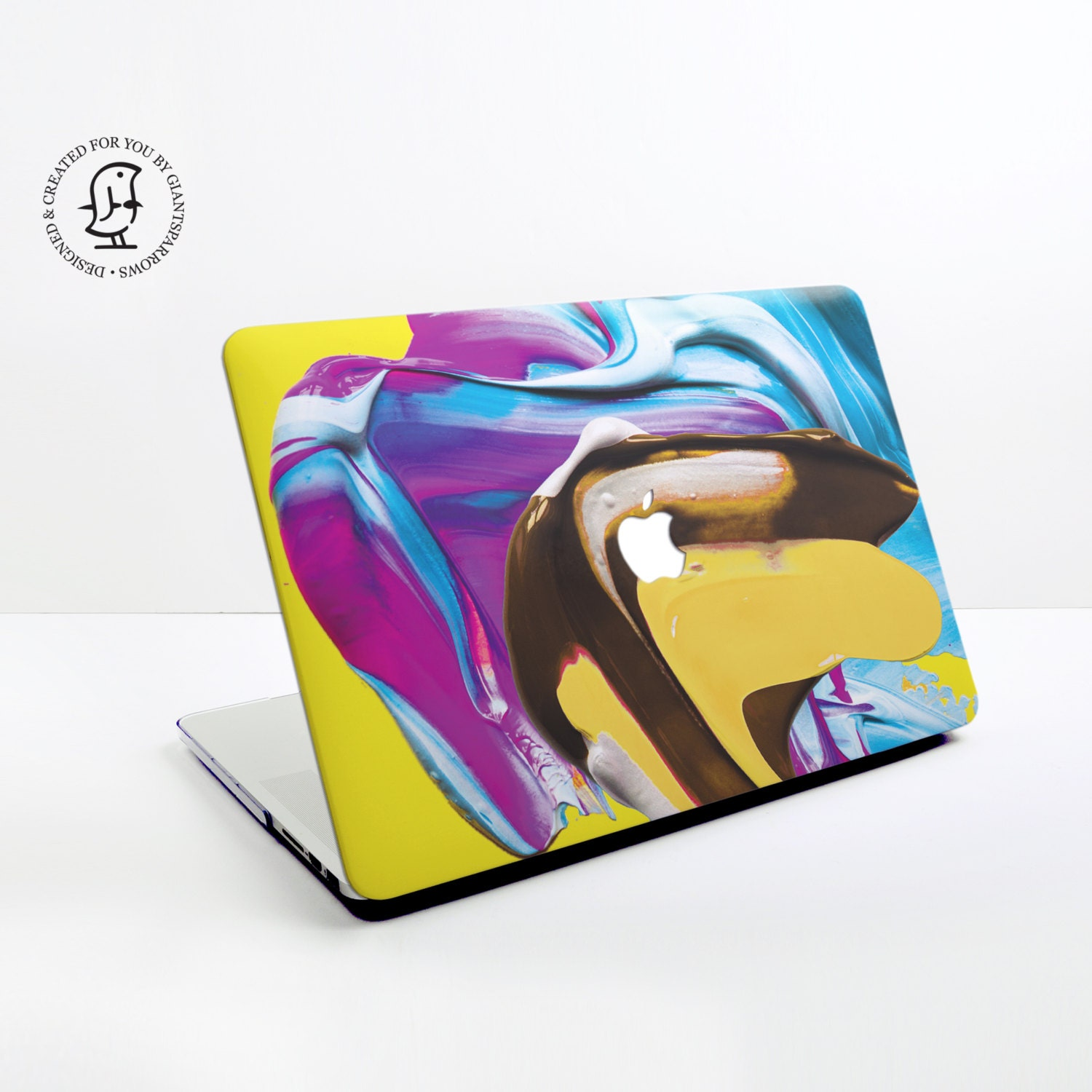 Lush Blue Yellow and Purple Mix paint Design  MacBook Hard Protective Case for MacBook Pro Air Air Retina Pro Retina  2016 MacBook Pro