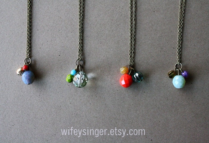 """necklace benefiting HOPE 4 SUDAN - clear mint 26.5"""""""