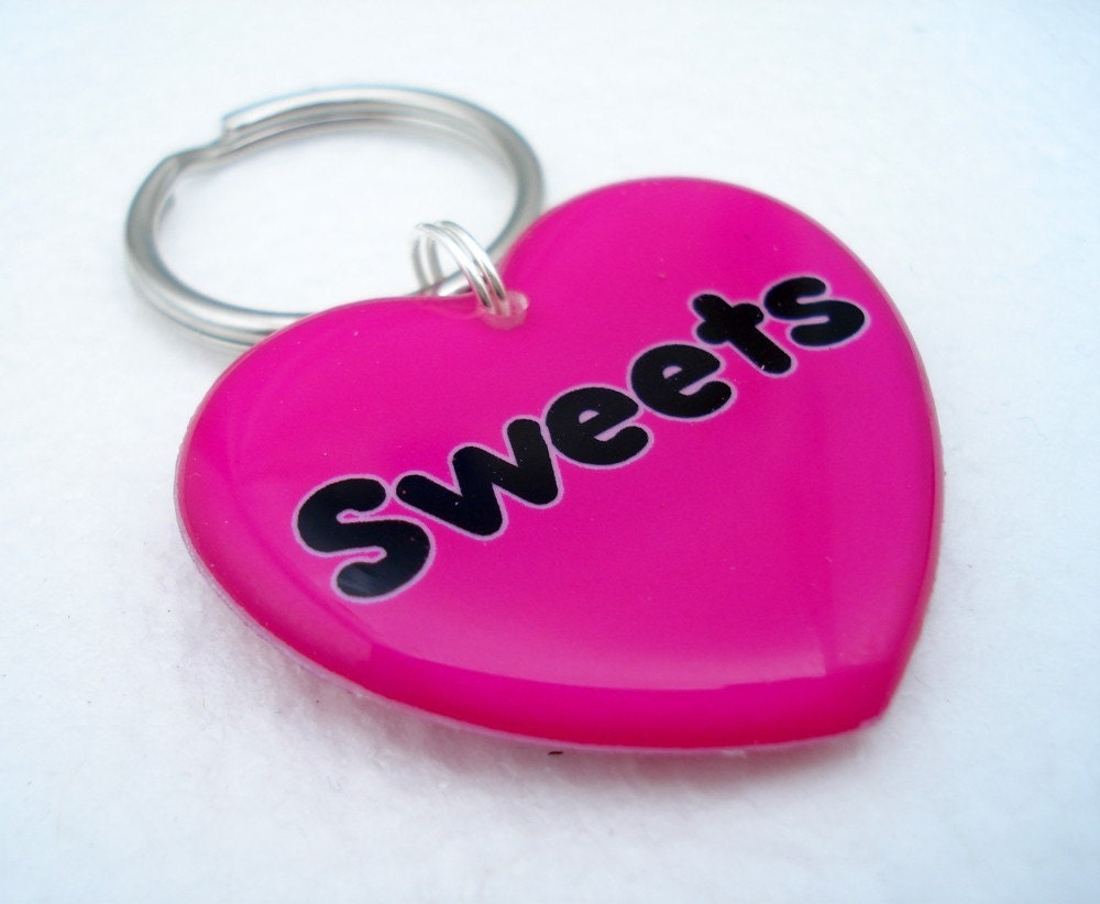 Double Sided Heart Shapped Pet ID Tag by MetamorphDesigns on Etsy from etsy.com