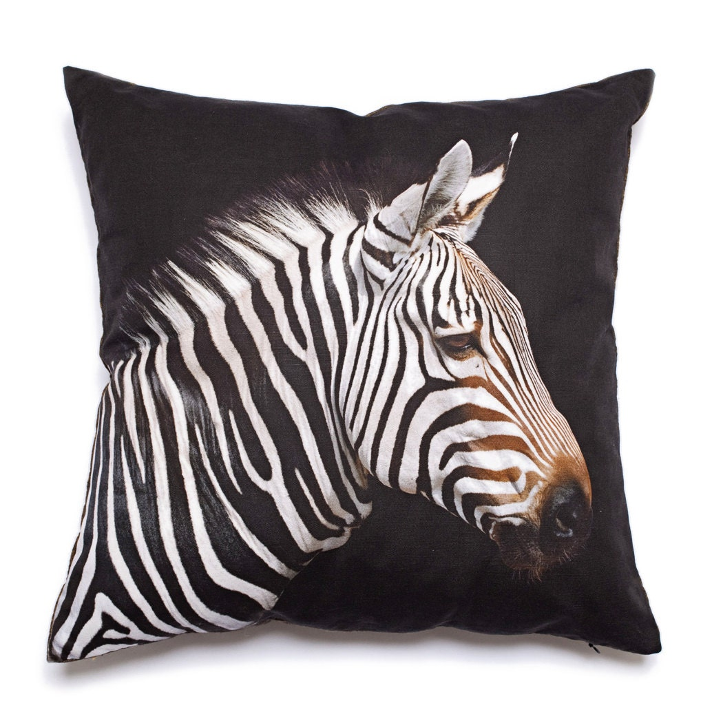 Etsy Decorative Throw Pillow : Decorative Pillow Zebra by EastCampHome on Etsy