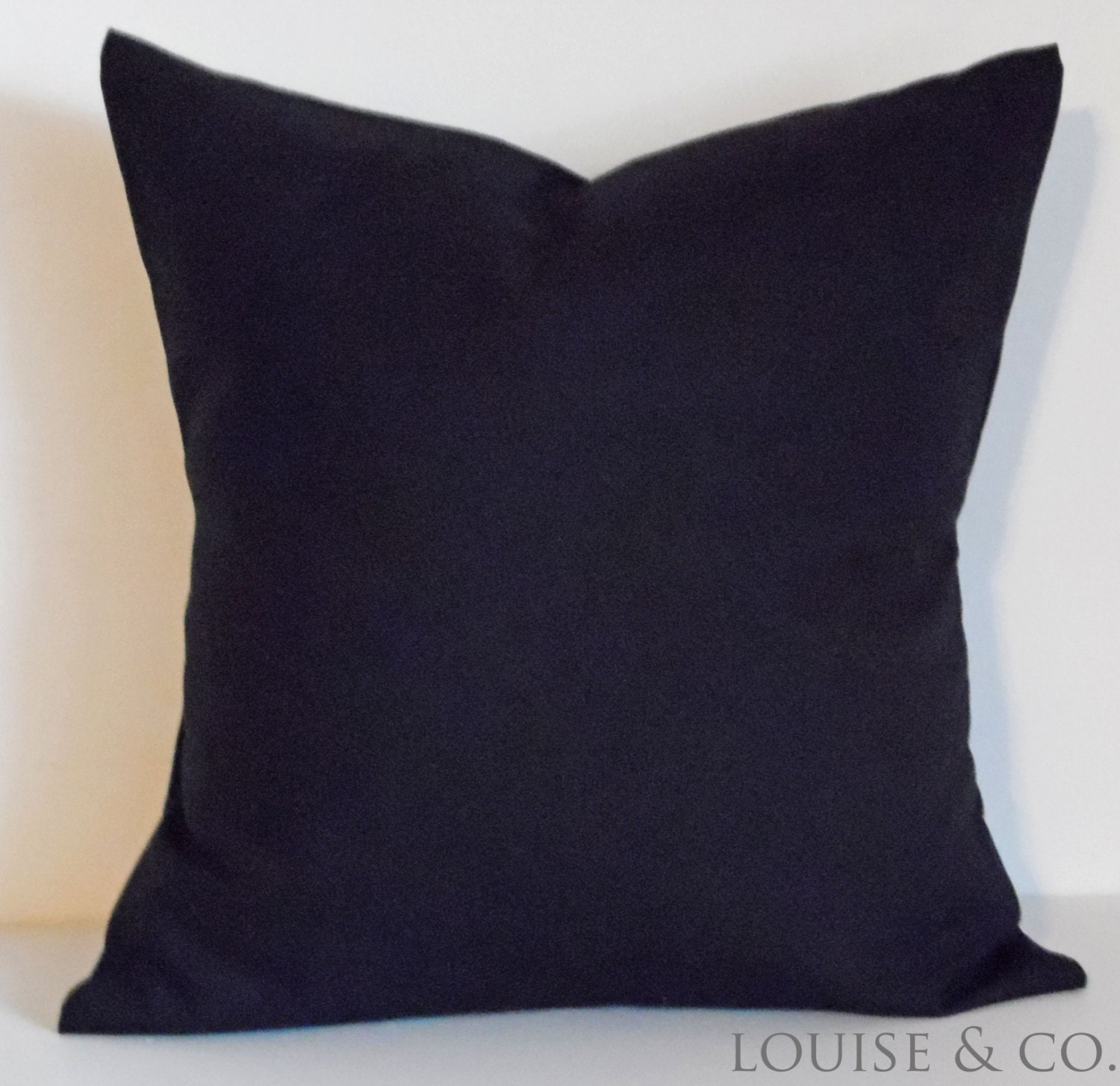 Plain Black Throw Pillow : Pillows Throw Pillow Solid Black 18x18 Accent by LouiseandCompany