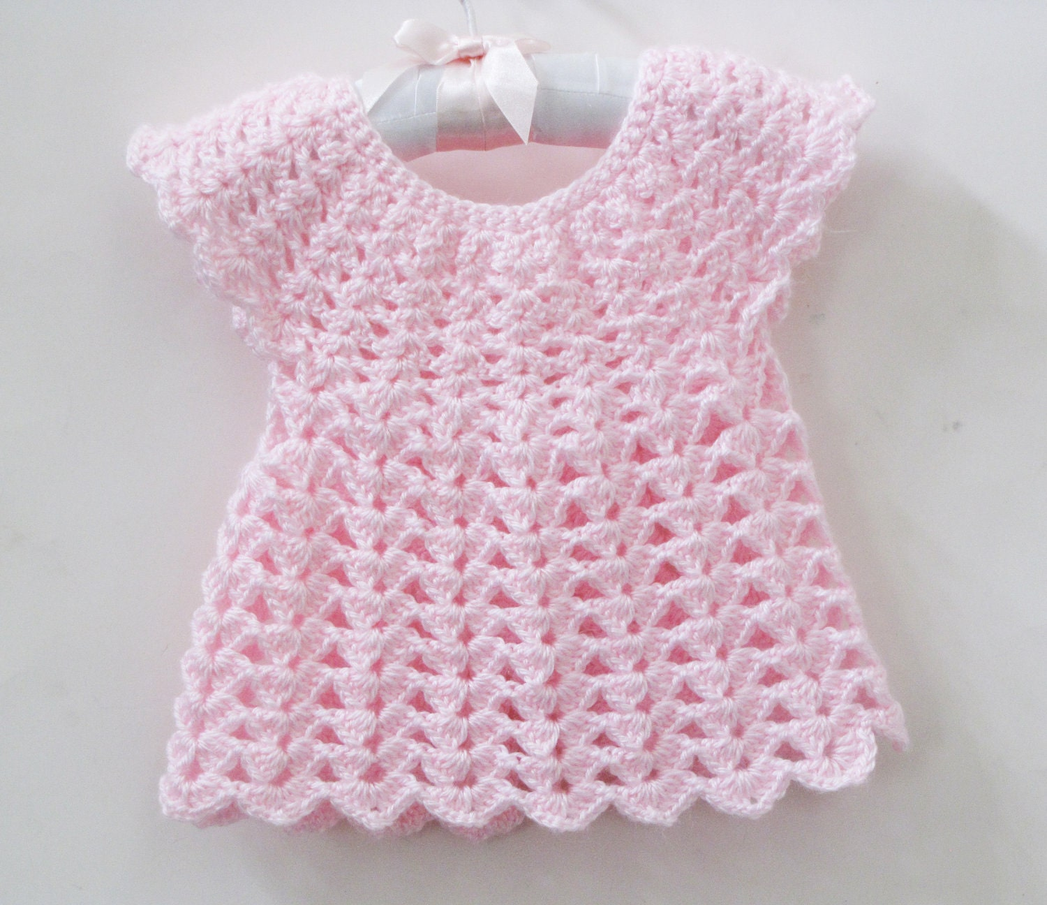 Knitting Patterns Baby Frocks : BOUTIQUE...knitted baby Frock.... ANGELISA by SnuggleBugBabyBoutiq