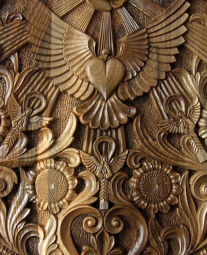 Ooak rectangular hand carved wall panel wood by dimitarmanev