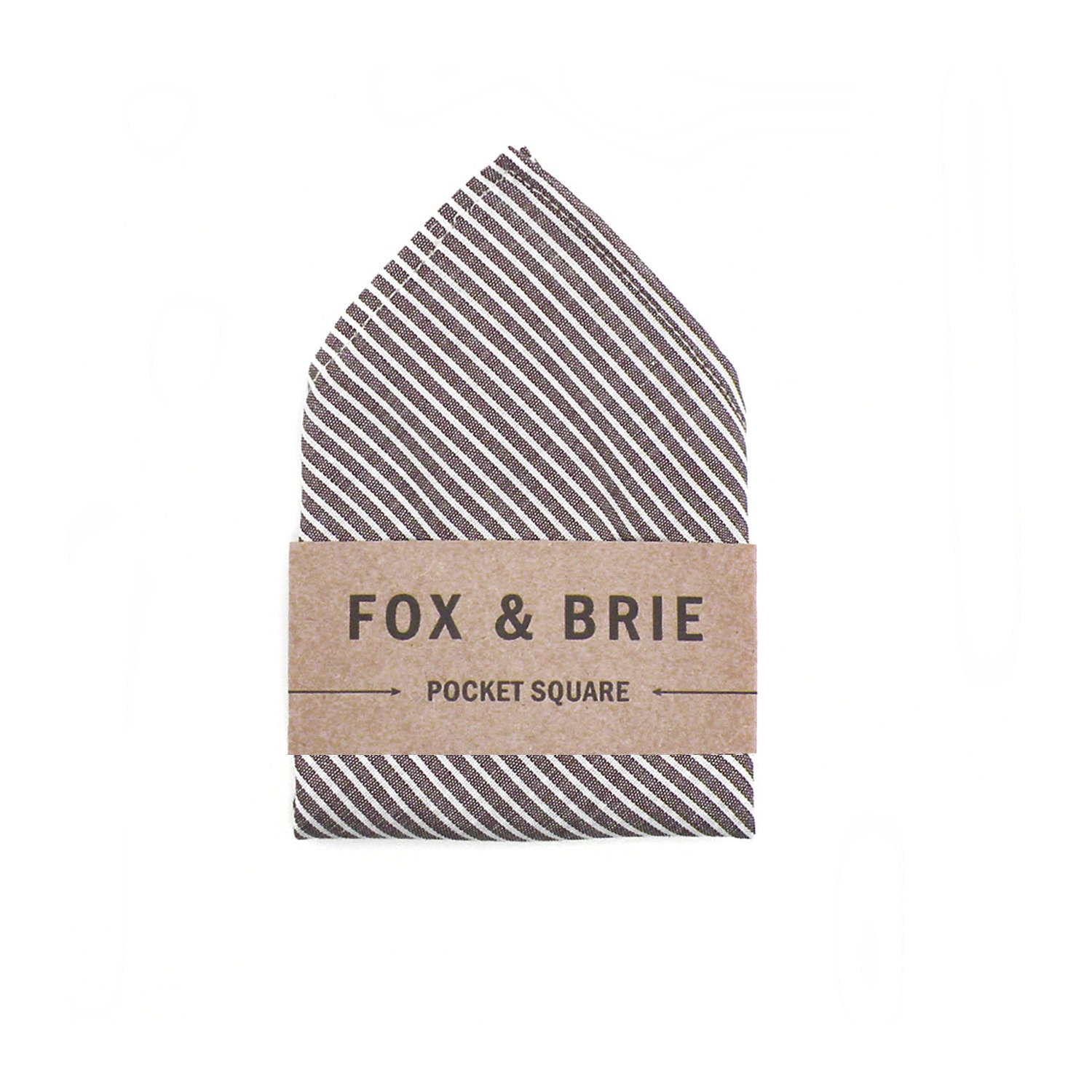 Charcoal Stripe (pocket square) - FoxandBrie
