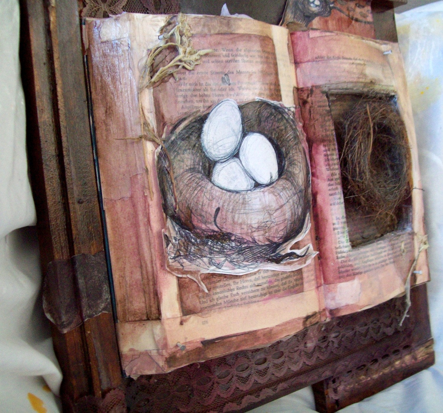 Remember when we were infallible - Mixed Media Altered Book