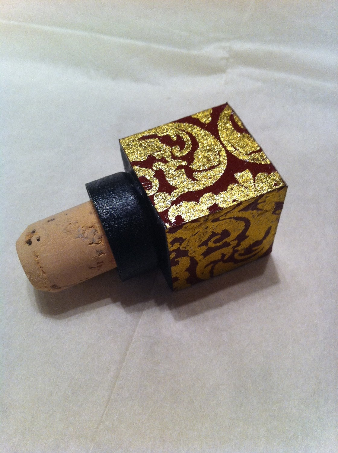 Red and Gold Wine Cork