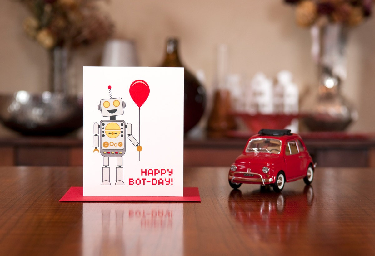 Поздравление с роботом