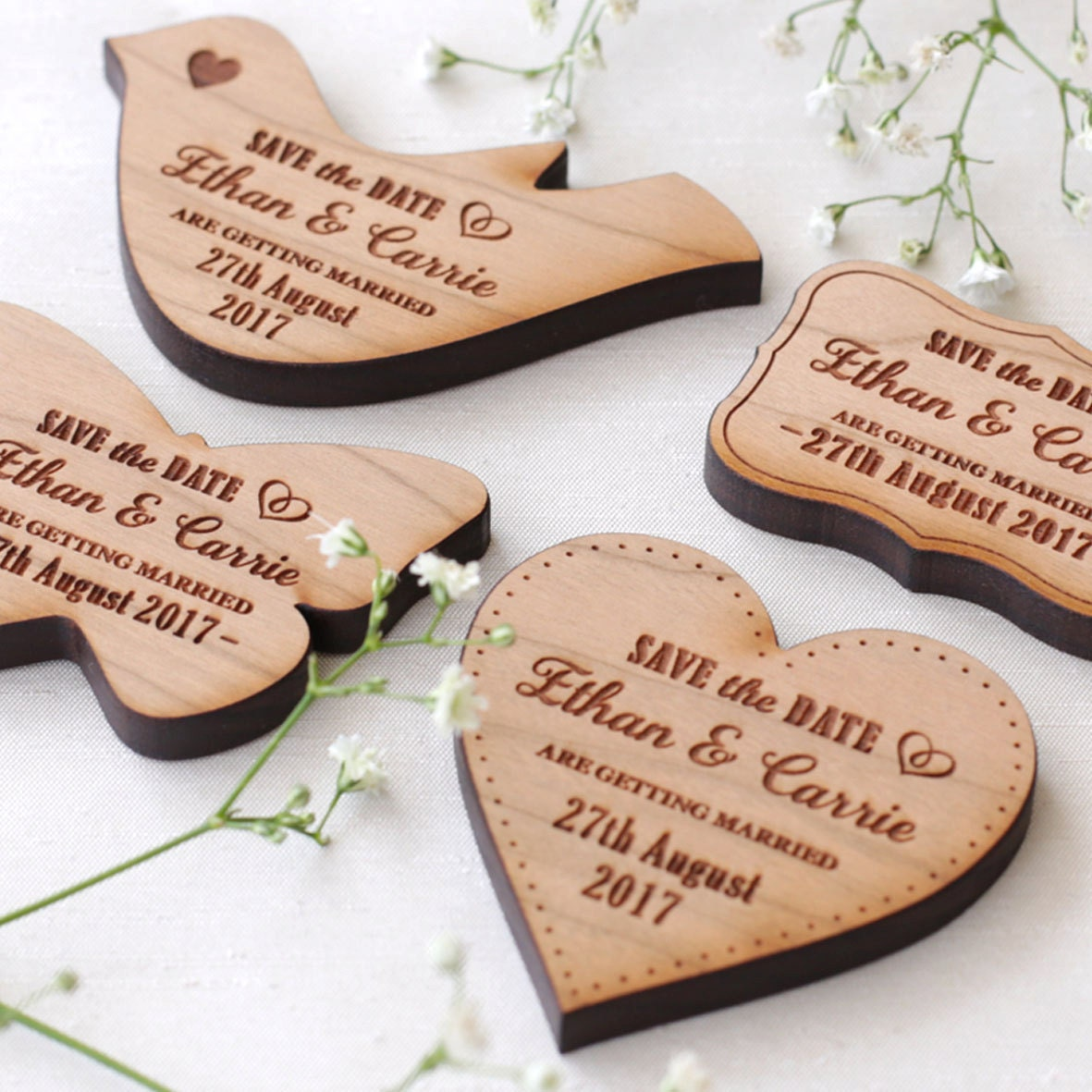 Save the date magnet Solid Wooden save the date Rustic save the date Heart save the date  Save the date wedding magnets Wedding