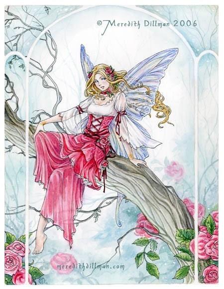 Misty Rose 8x10 fairy art print