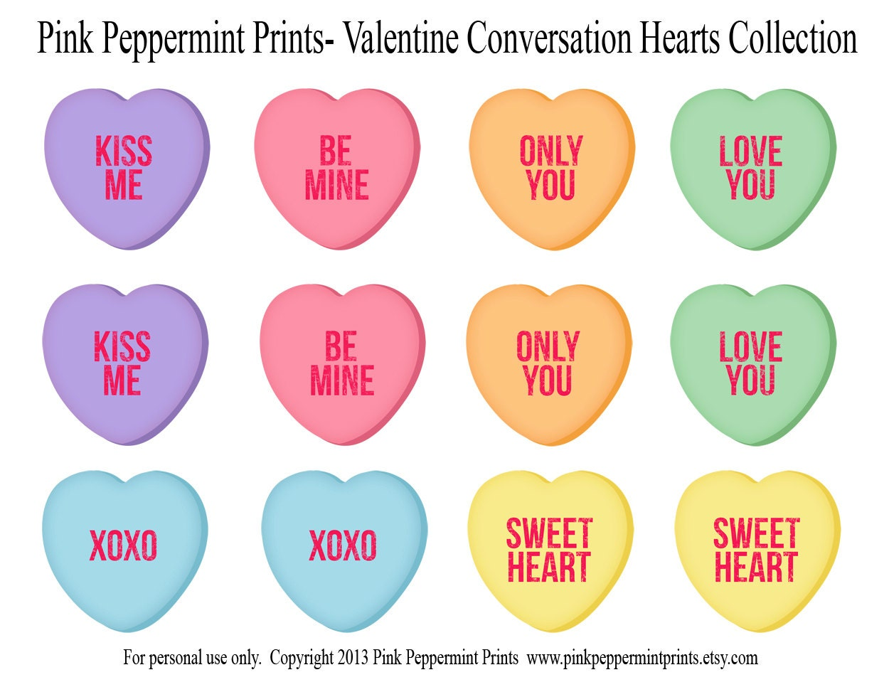 Trust image with regard to printable conversation hearts