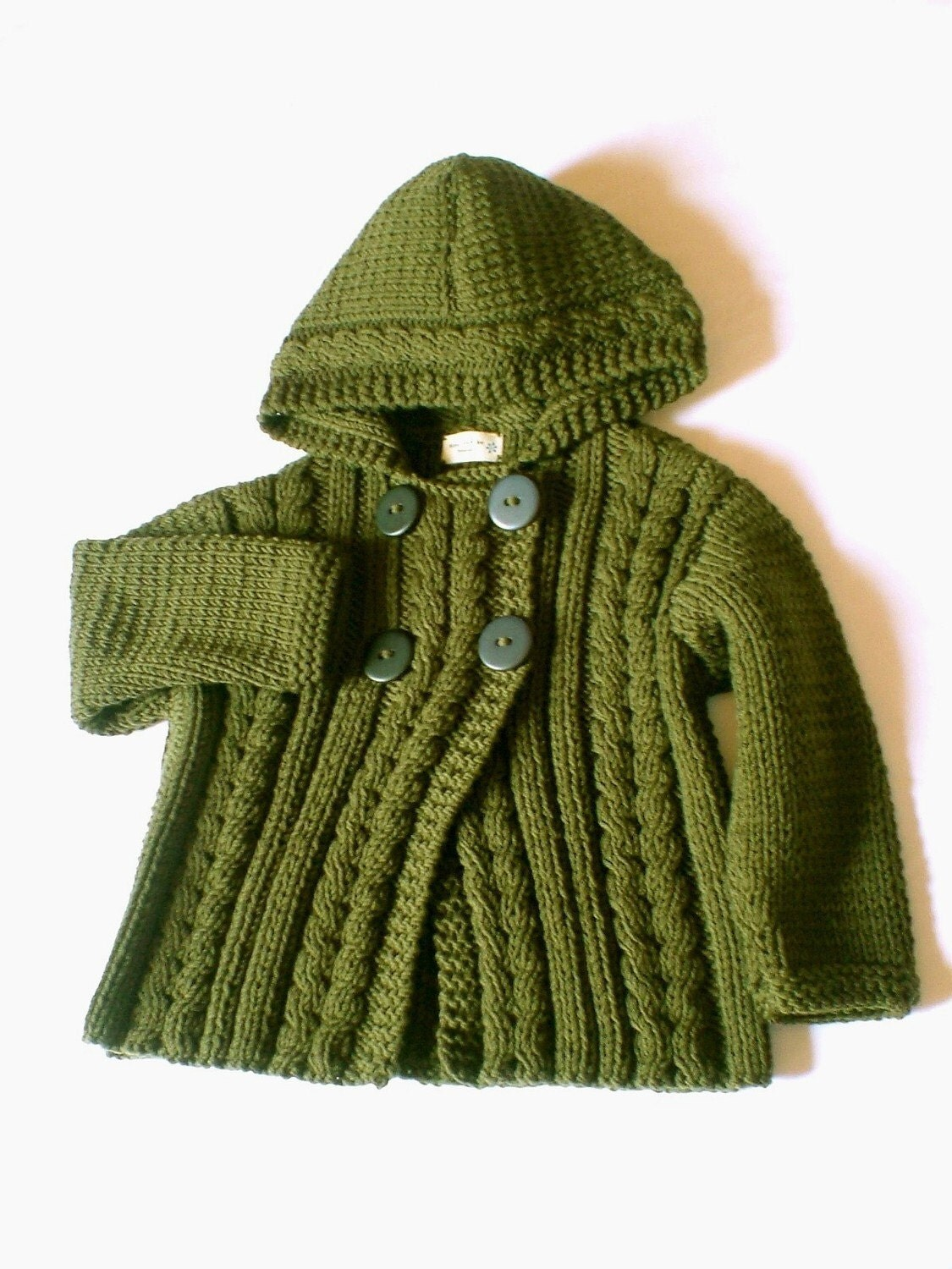 Knitting Pattern Hooded Jacket Toddler : Items similar to Orange Knit Hoodie, Wool Cable Knit ...