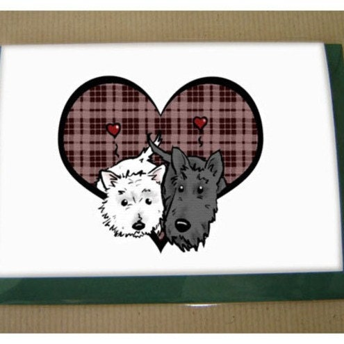 Scottie/Westie Hearty card